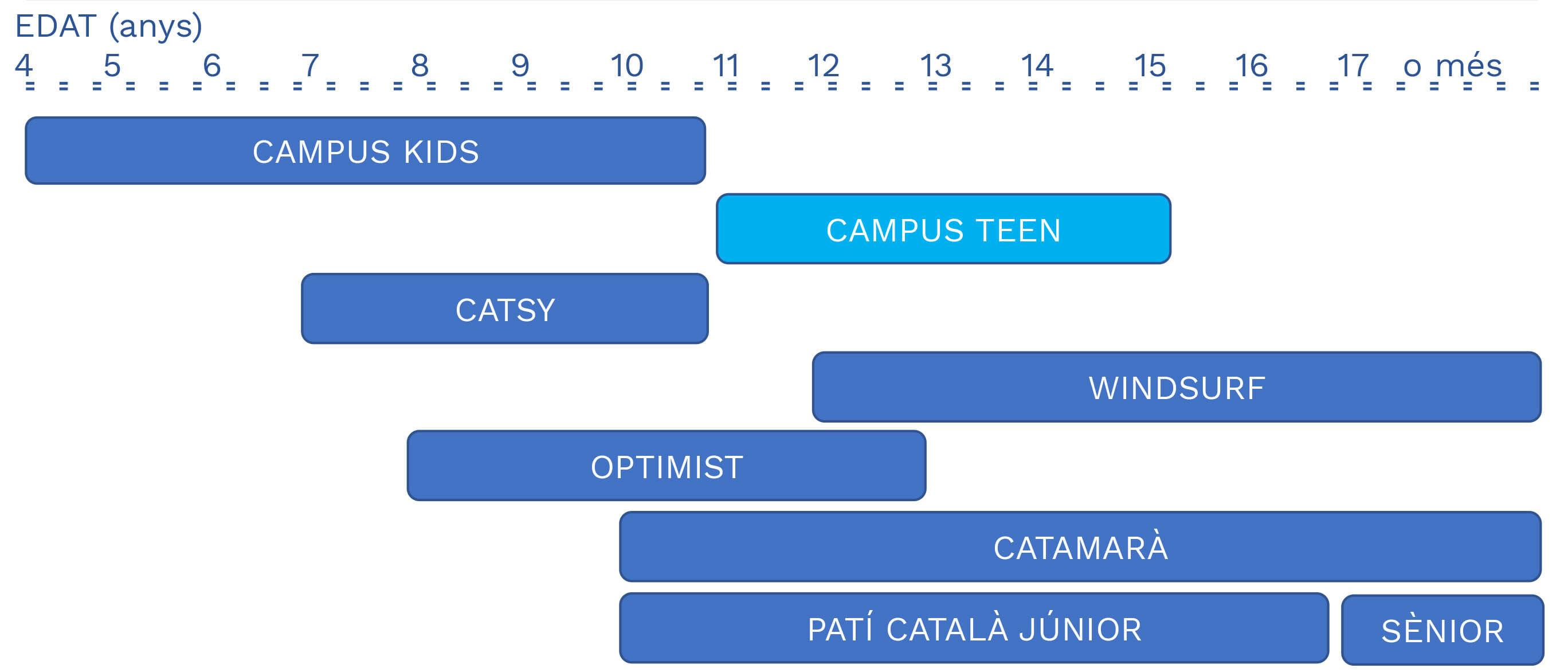 cursos i activitats d'estiu per edats