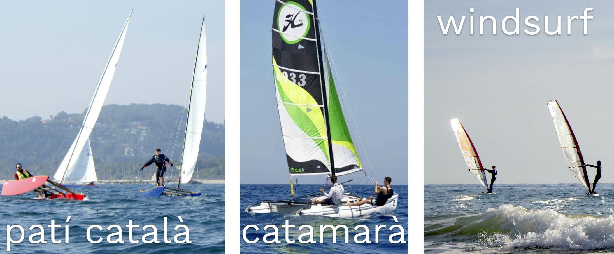 cursos de patín, catamrán y windsurf